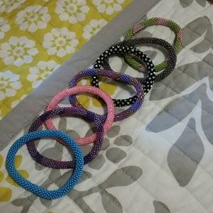 Set of 7 Lily and laura bracelets